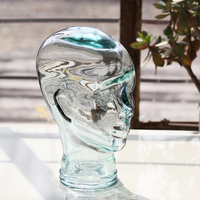 Handmade Natural Rock Quartz Crystal Carved Skull Realistic Fengshui Healing Ability Stone Home Ornament Art Collectible
