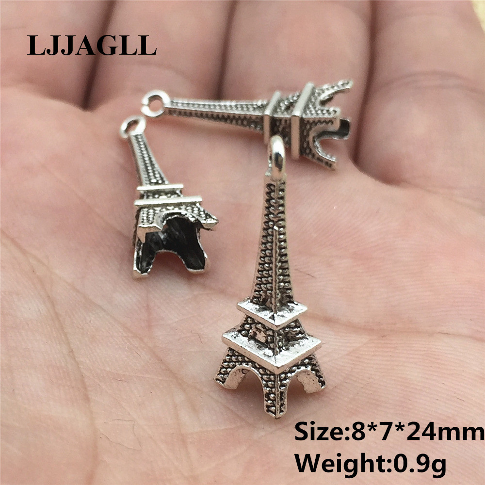 Eiffel Tower Charm//Pendant Tibetan Antique Silver 24mm  6 Charms DIY Jewellery