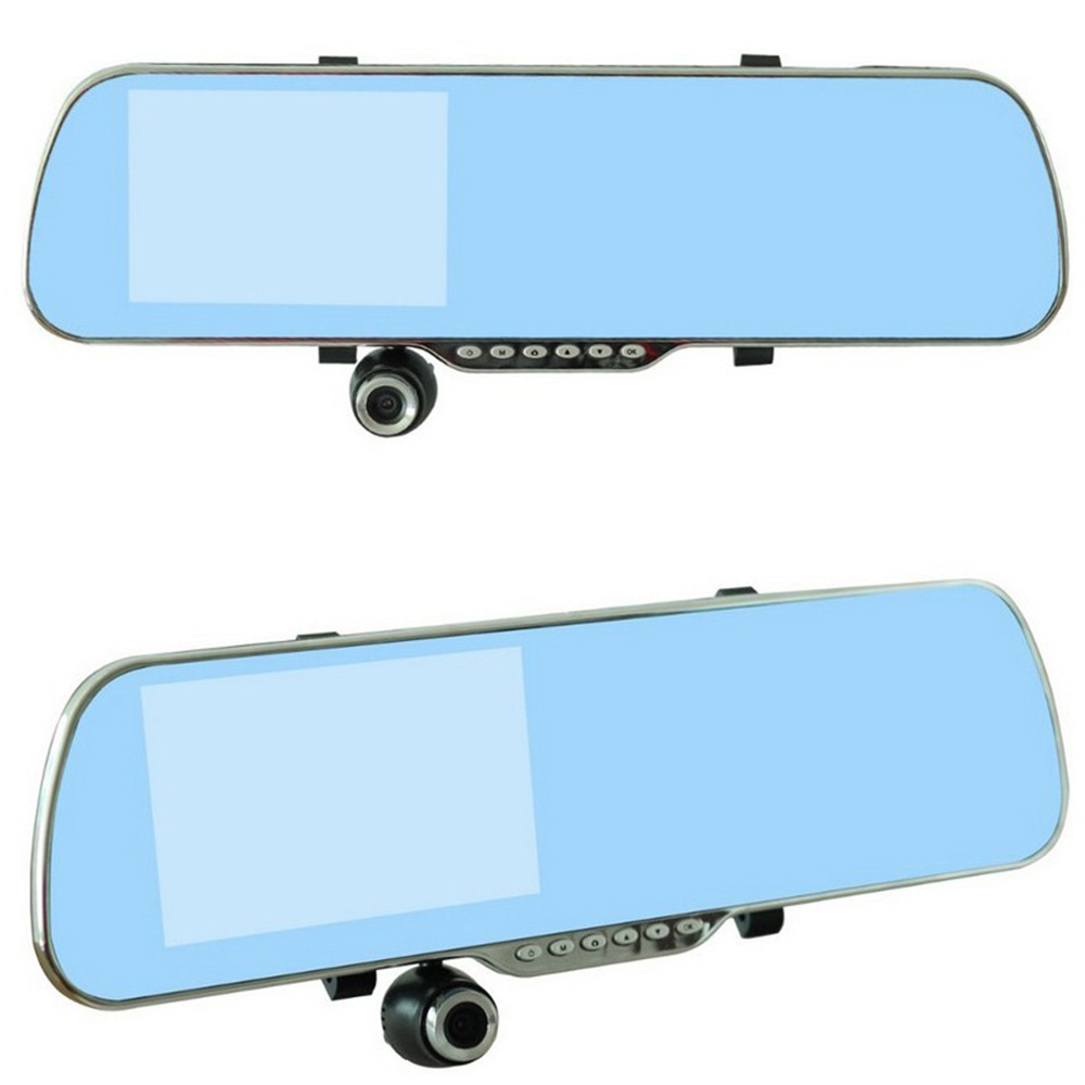 Dvr-Touch Dash-Cam Parking-Rearview-Mirror-5inch Wifi Android FM GPS HD