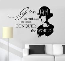 ויניל מדבקות קיר השראה ציטוט יופי אופנה סלון ילדה מדבקות ייחודי מתנה 2LR12