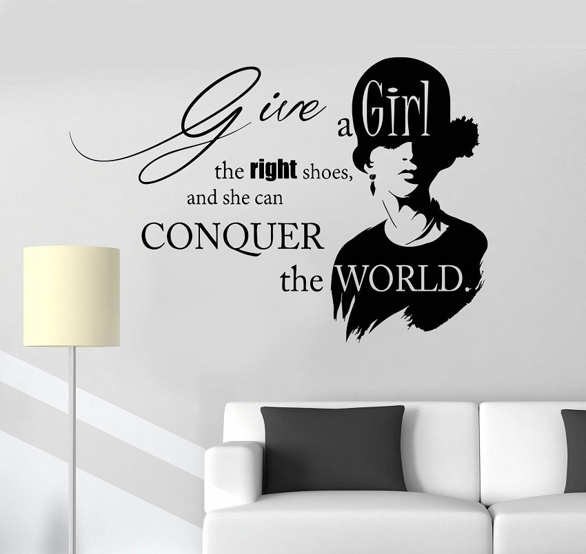 Vinyl Wall Decal Inspirational Quote Beauty Fashion Salon Girl Stickers Unique Gift 2LR12-in Wall Stickers from Home & Garden