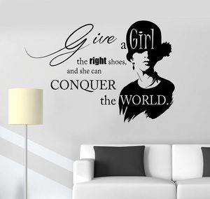 Image 1 - Vinyl Wall Decal Inspirational Quote Beauty Fashion Salon Girl Stickers Unique Gift 2LR12