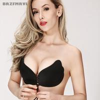 Sexy Woman Push Up Bra Self Adhesive Silicone Pad Cup Bra Bust Strapless Invisible Bra Women