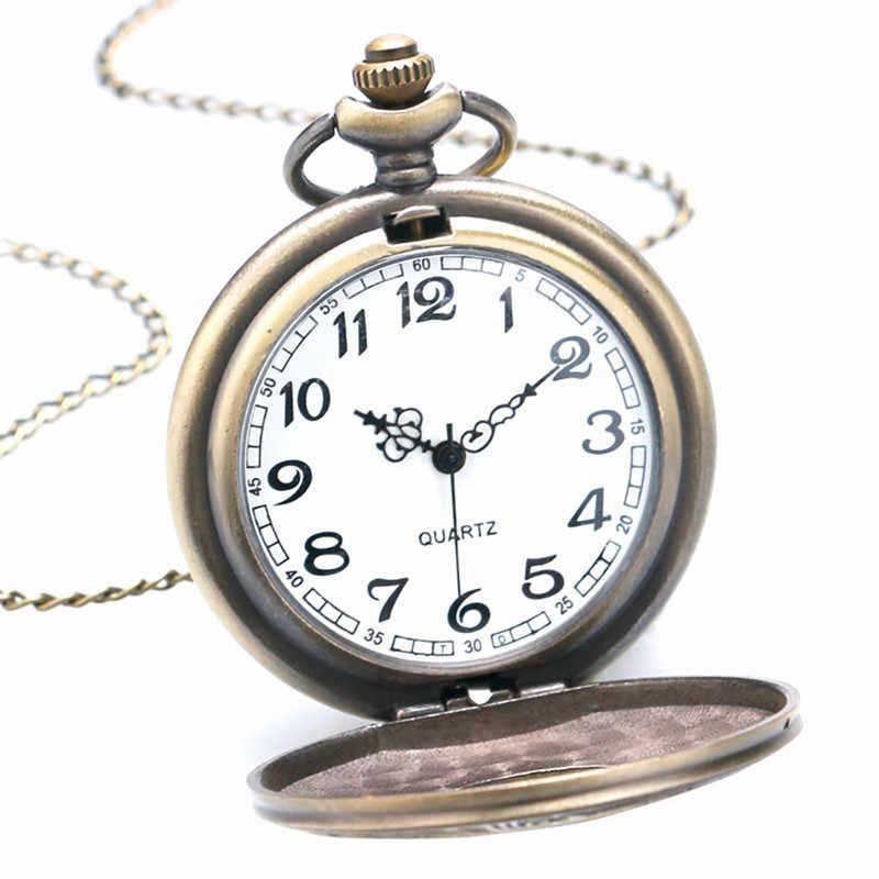 Винтаж черный унисекс часы мужские римские номер кварцевые стимпанк карманные часы Для женщин человек Цепочки и ожерелья кулон подарки часы на цепочке