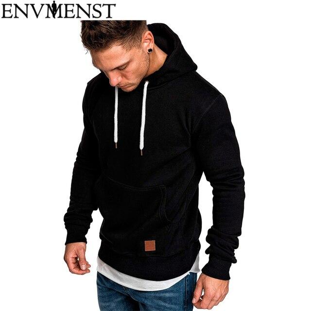 c37ad7251 Envmenst Men's Hoodies Tracksuit Autumn Winter Front Pocket Hooded  Sweatshirt Long Sleeve Slim Jackets Coat