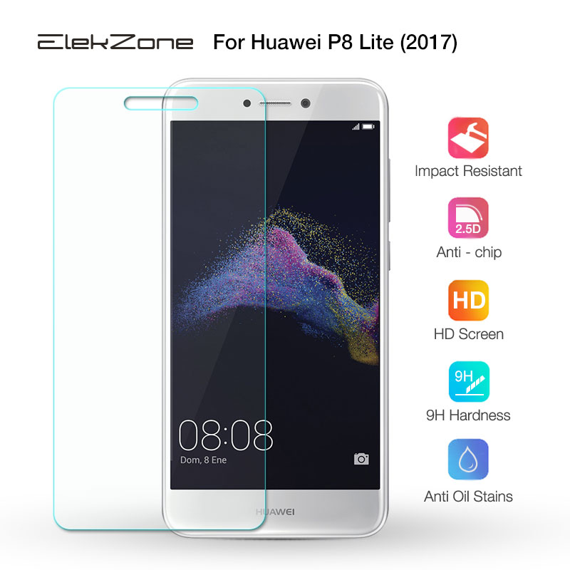 HD Clear Screen Protector For Huawei P8 Lite 2017 Transparent Tempered Glass For Huawei P8Lite 2017 Screen Protective Glass Film