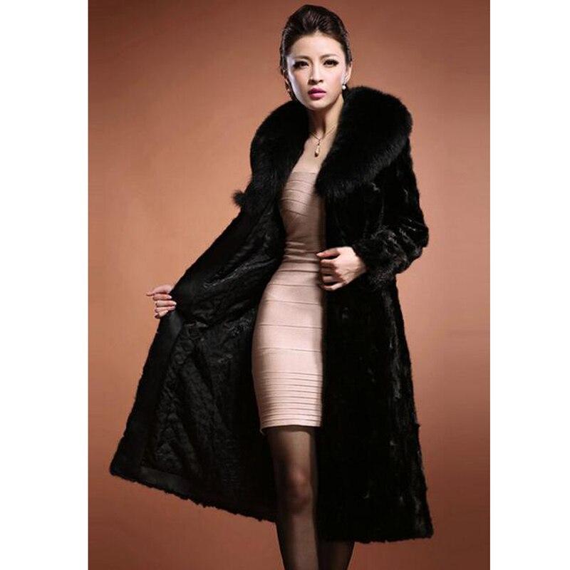 ROKEDISS 2017 winter fashion warm Black Fake Fur Coats Women Women ...