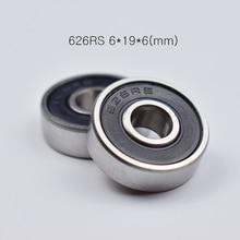 цены на 626RS ABEC-5 bearings 10pcs rubber Sealed Mini Bearing free shipping 626 626RS 6*19*6mm chrome steel deep groove bearing в интернет-магазинах
