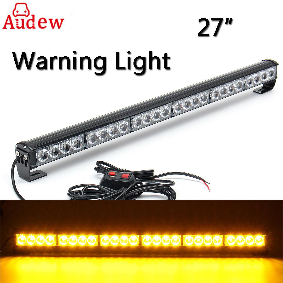 27'' 12V 24 LED Car Day Light Emergency Traffic Advisor Flash Strobe Light Bar Warning Amber for Truck SUV ltd 5071 dc12v warning light emergency strobe light warning light