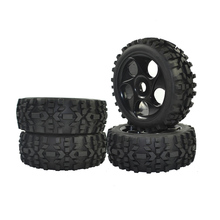 1/8 Scale RC Buggy Tyre Wilderness Tires Wheels for RC Truck Off-road Car 4pcs 4pcs 1 8 rc off road buggy snow sand paddle tires tyre and wheels for 1 8 rc car