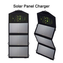 Fold Portable Solar Panel Charger Solar Charger for iPhone iPad Samsung HTC Huawei Xiaomi Power Bank and Other 5V USB Devices.