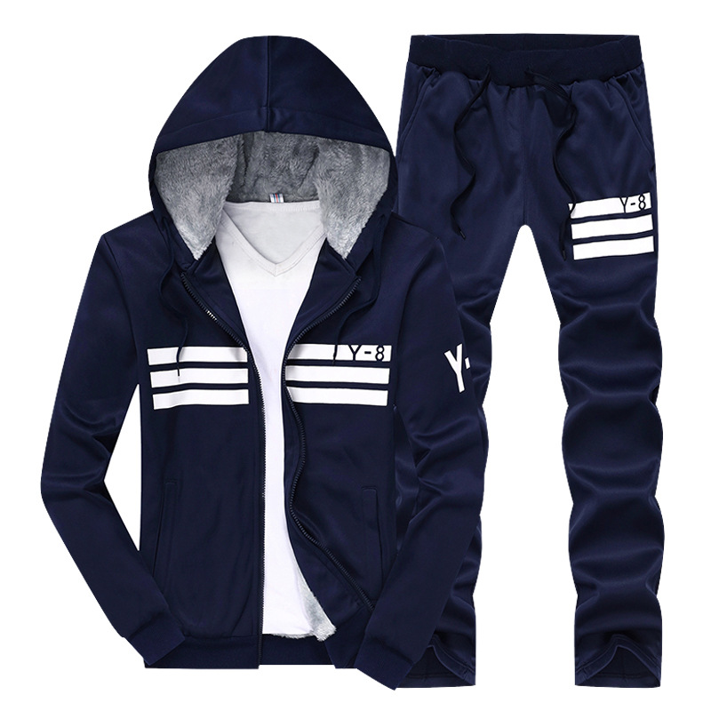 New Men's Thicken Baseball Suit Designer Printing Plus Size Winter Hoodies Fleece Sweatshirts Suit Men Sportwear M~9XL BFDY8