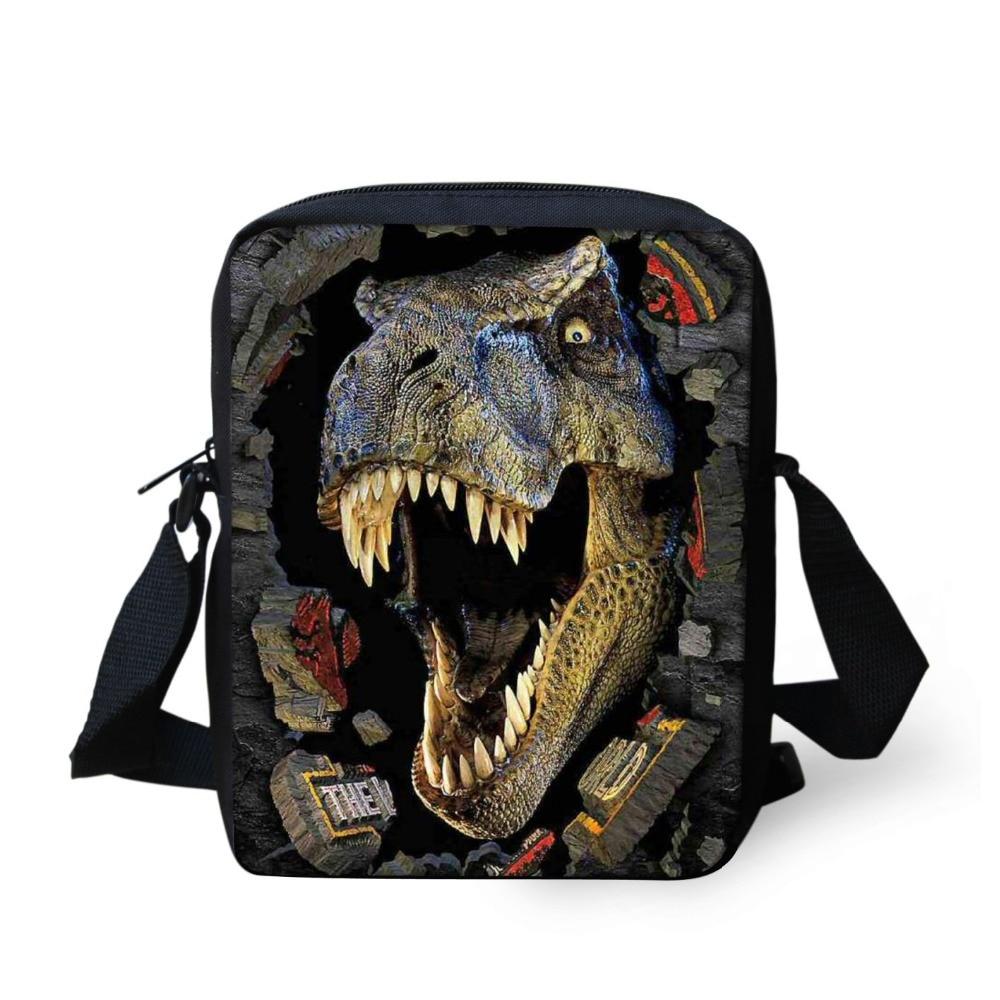 ᓂstylish Cool Dinosaur Print ⊹ Animal Animal School Bag