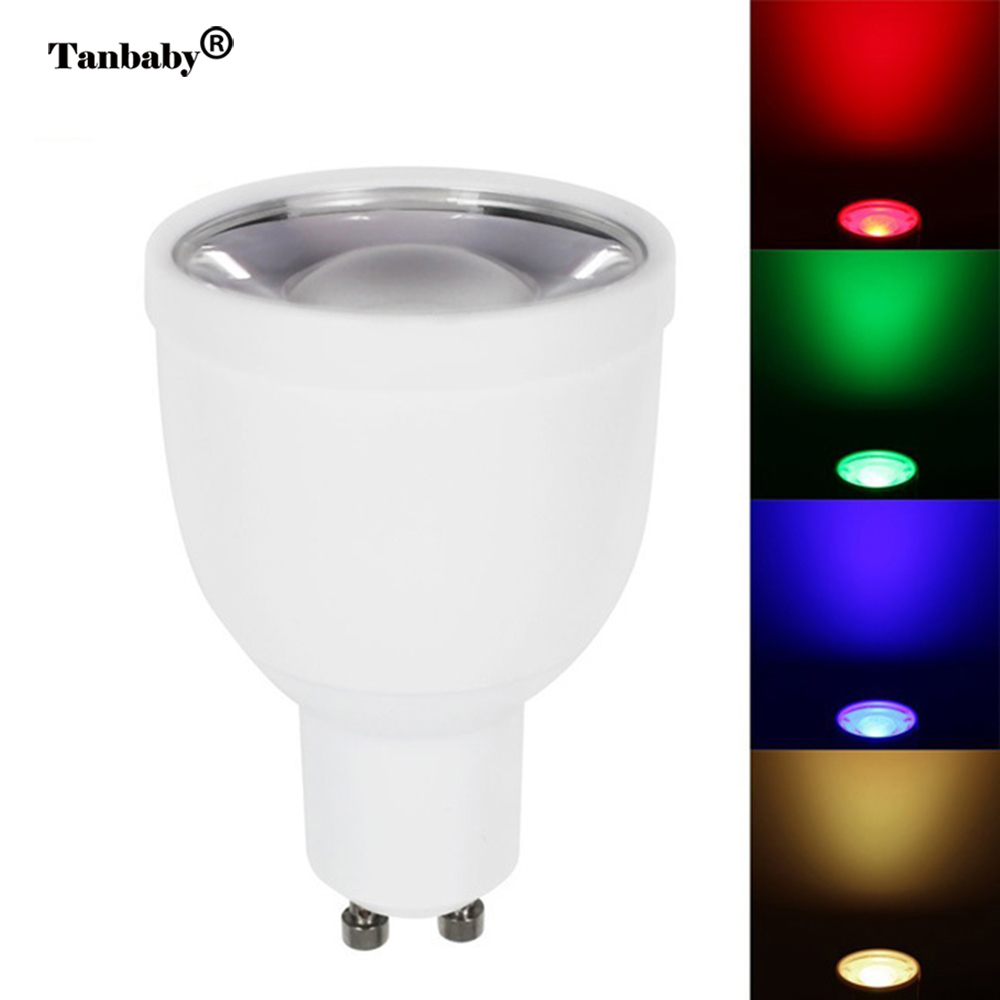 Tanbaby Mi.light 5W Gu10 RGBW/RGBWW led spotlight SMD color change dimmable light bulb lamp AC85-265V indoor lighting icoco rgbw led light bulb wifi remote control smart lighting lamp color change dimmable led bulb for android ios phone