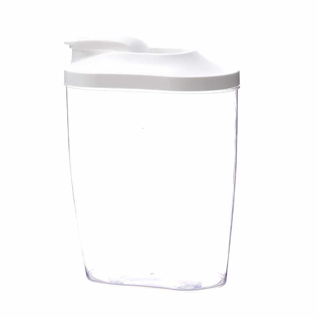 Plástico Caixa De Armazenamento De Cozinha Dispensador De Cereais Arroz de Grãos de Alimentos Recipiente Tampa Do Copo Em Escala Da Cozinha Food Caixa de Arroz de Feijão Casos 45