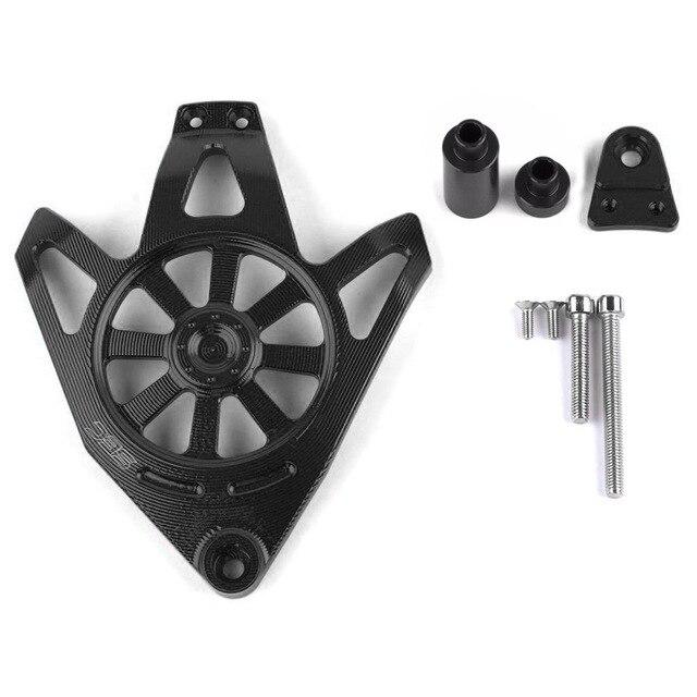 Для Yamaha NVX 155 AEROX 155 аксессуары для мотоциклов CNC алюминиевый защитный чехол для двигателя слайдер крышка протектор - Цвет: Черный