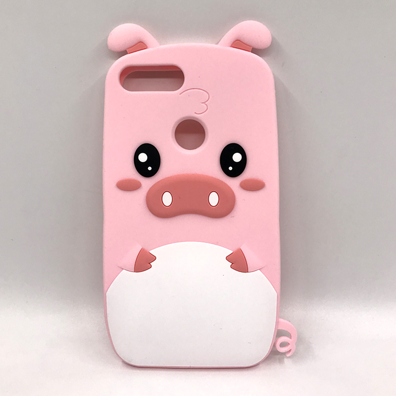 <font><b>Silicone</b></font> 3D Cute Pink Piglet Phone <font><b>Case</b></font> For <font><b>Huawei</b></font> P Smart P20 Pro P10 P8 P9 Lite 2017 Y5 <font><b>Y6</b></font> Y7 Prime <font><b>2018</b></font> Honor 8 9 Lite Cover image