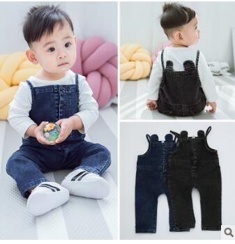 Baby Pants Jeans Toddler Autumn Girls Children Boy Bib Spring 0-2 High-Quality