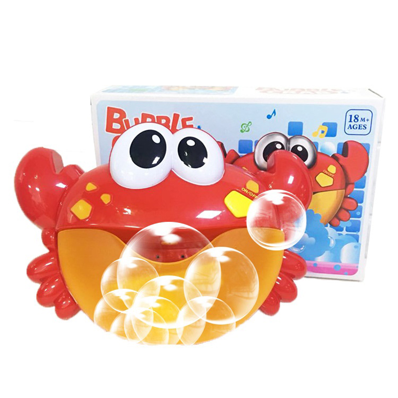 12 Music Crabs Automatic Bubble Machine Bubble Electric Fan Children's Toys Bath Toys Outdoor Toys Christmas Gifts