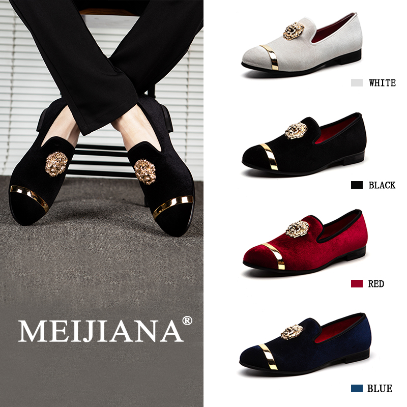 MEIJIANA 2019 New Big Size Men s Loafers Brand Men s Shoes Wedding Shoes Slip on