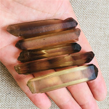 5PCS AAA NATURAL smoky Quartz Crystal Points Terminated Wand stone
