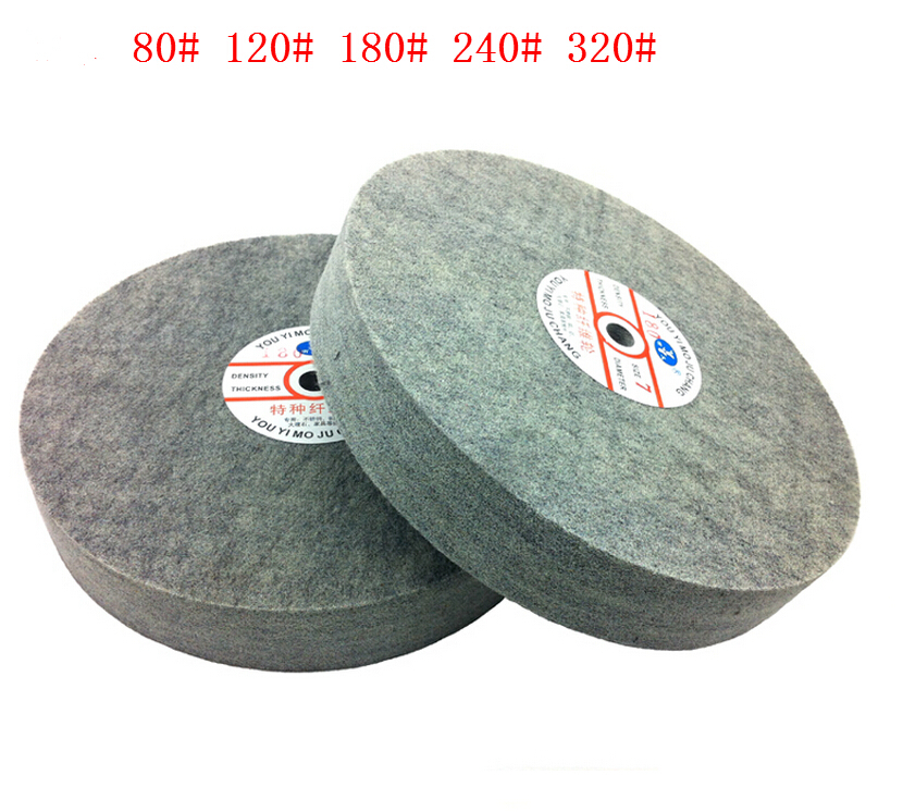 Metal polishing wheel 300*50mm 7p Non woven abrasive wheel Nylon Fiber polishing wheel Abrasive disc fiber polishing buffing wheel grit nylon abrasive 25mm thickness 7p hardness 32mm id