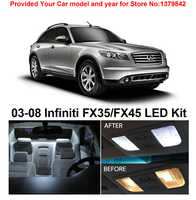 Free Shipping 13Pcs/Lot car-styling Xenon White Package Kit LED Interior Lights For Infiniti FX35 FX45 2003-2008
