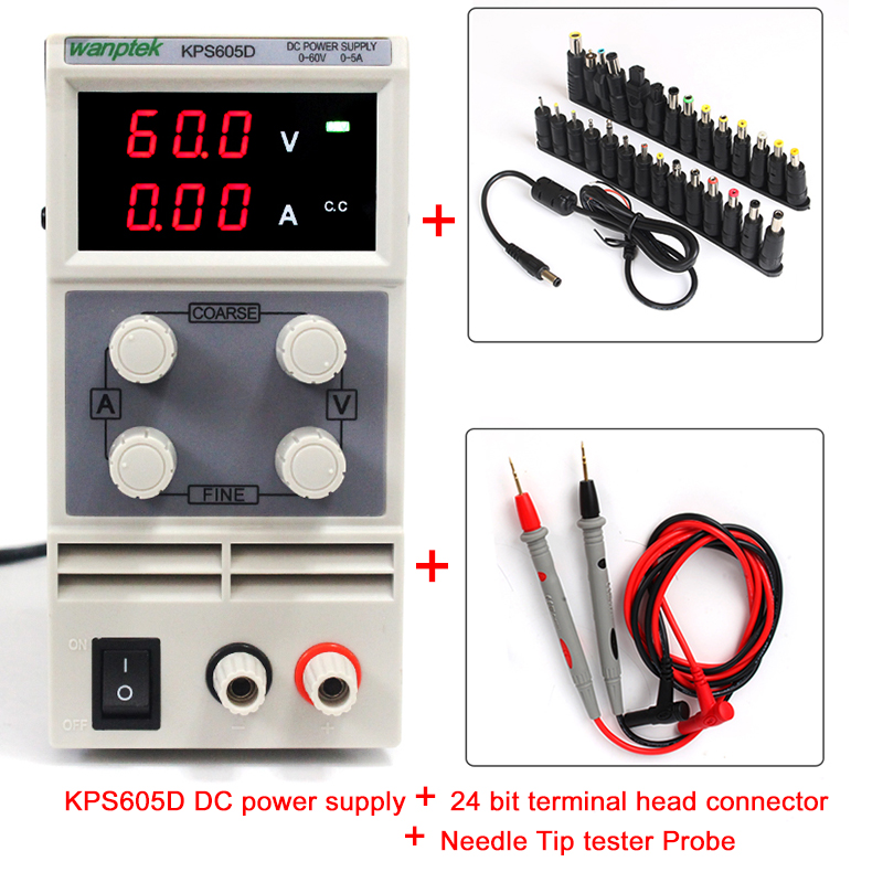 2017 NEW SALE a single set of output Double potentiometer precise adjustment 60V 5A mini switching DC power supply single joint with a double set of switches potentiometer 100k