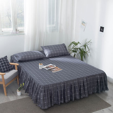 European Bed skirt bed cover 2m fitted sheet cotton material Double Mattress Customized lattice mattress
