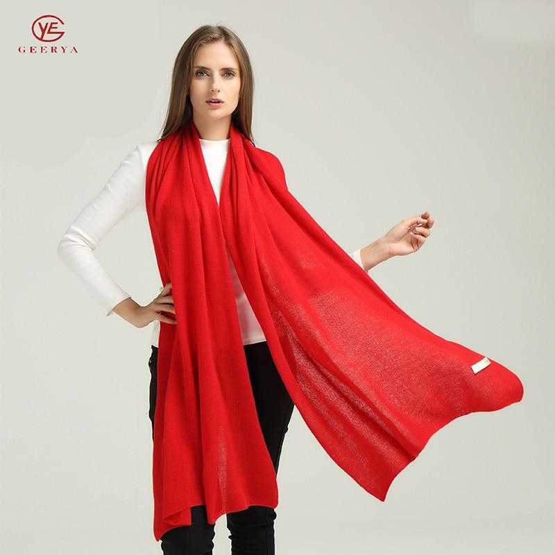 Geerya Scarf Women Winter Warm Luxury Brand Cashmere Shawl Winter Female Luxury Brand Winter Scarves More Colors Shawl 2018