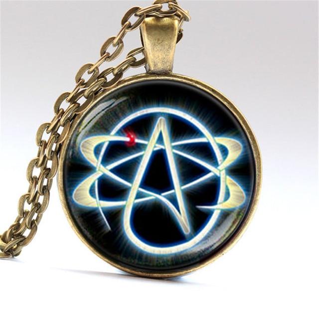3 color pendant high quality atheist symbol necklace no religion 3 color pendant high quality atheist symbol necklace no religion jewelry gift for men aloadofball Choice Image
