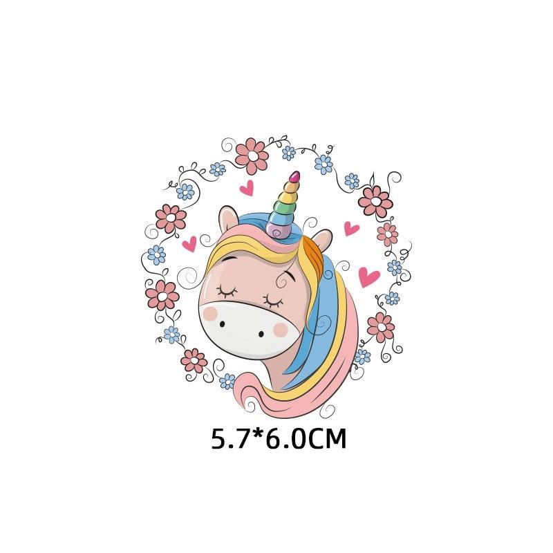 Милые маленькие животные Единорог Сова собака кошка патч для одежды стикер для детей мальчик девочка DIY патчи Футболка теплопередача Винил - Цвет: zt1114
