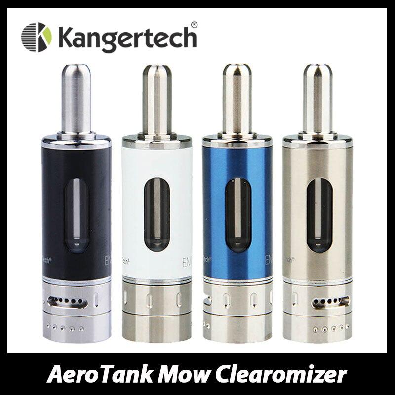 Kanger AeroTank Mow <font><b>Tank</b></font> <font><b>Atomizer</b></font> Airflow Control Pyrex Glass Clearomizer 1.8ml E-liquid Capacity ecig with New Dual Coil 1.5ohm