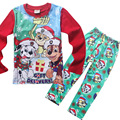 4sets/lot 2016 kids Clothing patrol long sleeve pajamas set Boys children's homewear clothes pyjamas PJ Christmas gift 2 colours