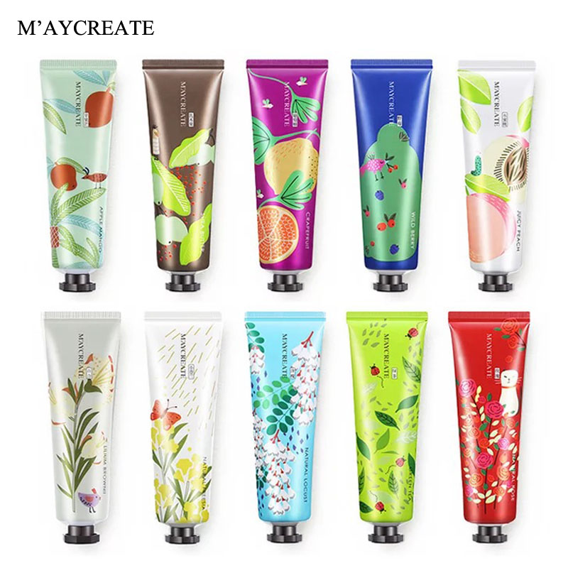 MayCreate Fruit Nourish Hand Cream Moisture Nourishing Anti Chapping Anti Aging Cute Men Women Whitening Hand Cream Care Lotion
