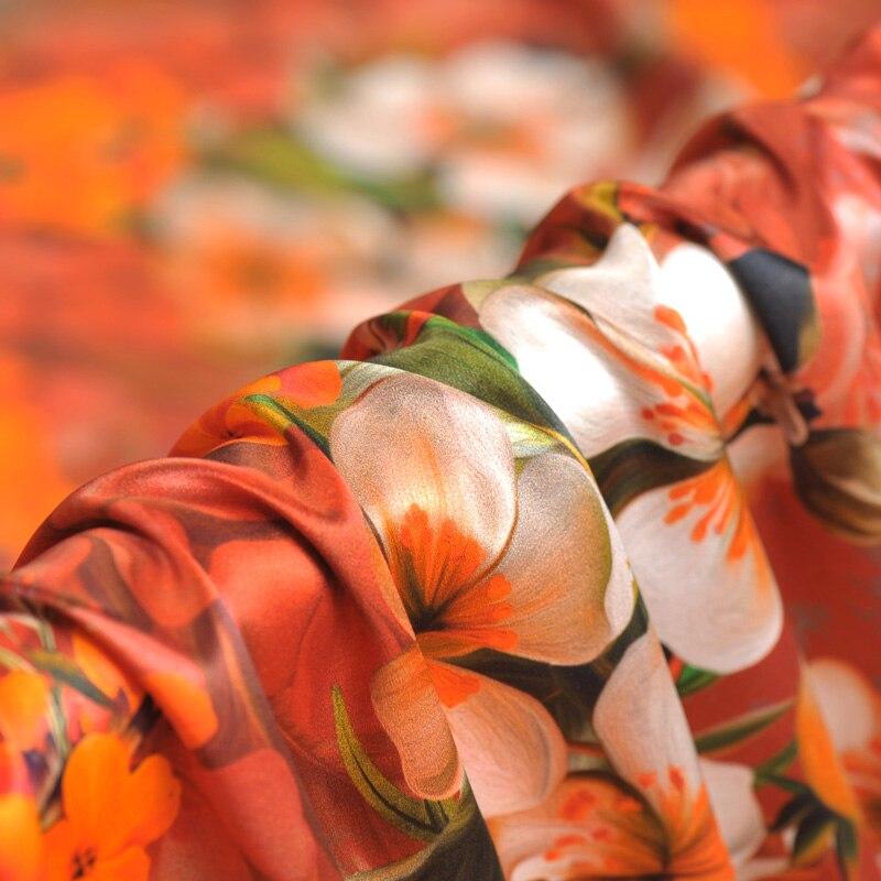 40 мм тяжелый пеньковый креп, сатин, шелк, ткань с цифровой печатью, платье рубашка, шелковая эластичная атласная ткань, оптовая продажа шелко... - 5