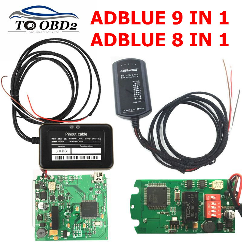 Adblue 8 In 1 Update To Adblue 9 In 1 Universal 8in1 AdBlue Emulation Box For Multi-brands Trucks NOT NEED ANY SOFTWARE
