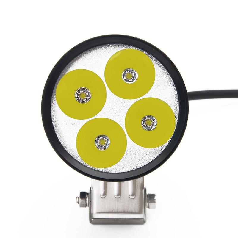 ФОТО motorcycle led light 3400lm 35W 4*U6 Cree led chipMotorcycle Headlight Motorbike spotlight