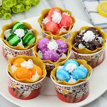 Artificial ice cream sundae model hagendasi cone counter cake decoration