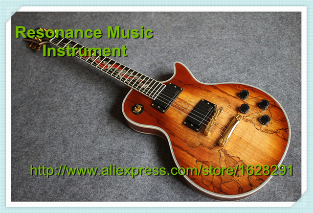 Cheap New Arriavl China Dragon Inlay LP Electric Guitar Ebony Fretboard Custom Guitar & Kit Available