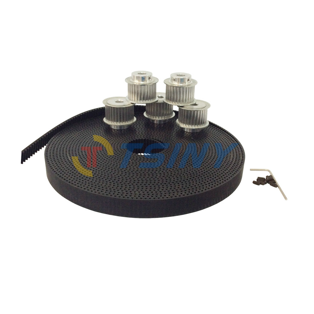 HTD 3M PU Open Ended Timing Belt 10 Meters Arc Tooth Belt & 5pcs 40 Teeth Timing Belt Pulley Wheel Bore 8mm 12mm Pitch 3mm htd 3m timing belt 10 meters open ended rubber belt