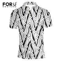 FORUDESIGNS 2017 New Arrival Summer Mens Classics Short Sleeve Slim Fit Male Trend Stripe Printing Dragon
