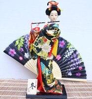 Japanische kimono puppe puppe damen Dekor eingerichtet Japanische seide handwerk dekoration figur