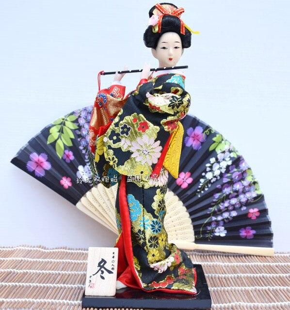 Jepang Geisha kimono boneka boneka wanita Dekorasi perabot Jepang sutra  kerajinan dekorasi gambar 6c370aeb00