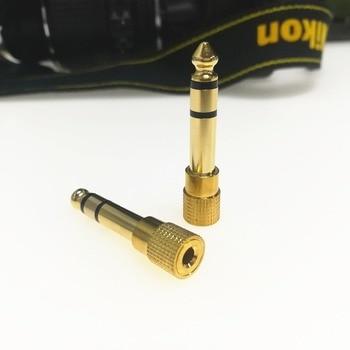 Разъем 6,5 6,35 мм штекер 3,5 мм Женский Разъем усилитель для наушников микрофонный аудио, адаптер AUX 6,3 3,5 мм конвертер