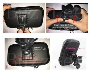 Image 5 - Buzzlee バイクモーター電話ホルダー防水電話バッグポーチケースオートバイ自転車ハンドル携帯電話 gps 用スタンド iphone 11