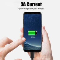 samsung note 3 Palltoro 3A USB 3.0 Type C Cable USBC Data Charging Cord USB3.0 Type-c Cable For Samsung Note 9 8 S9 One plus 6 5t USB-C Charger (3)