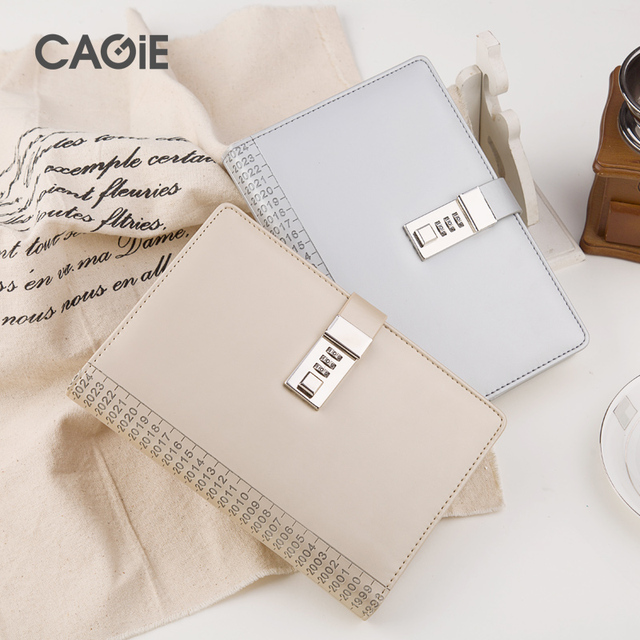 Diary with Lock Cagie Notebook a5 Fitted Lined Paper Notebooks Leather Cute Journal Traveler Note Book Personal Dairies