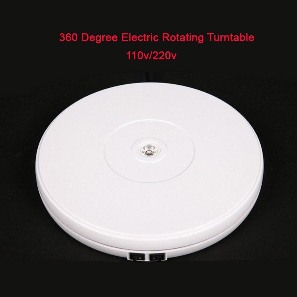 25cm Led Light 360 Degree Electric Rotating Turntable for Photography Max Load 10kg 220V 110V
