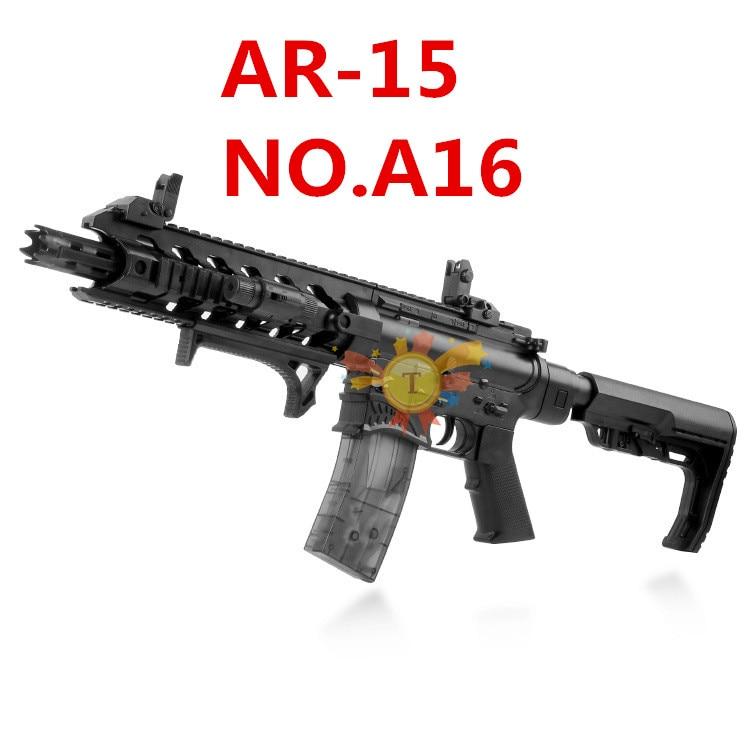 M4 Électrique pistolet à eau AR15 pistolet à eau pistolet jouet de Requin Bouche Sous La Fourniture Enfants Garçon CS jouet fusil